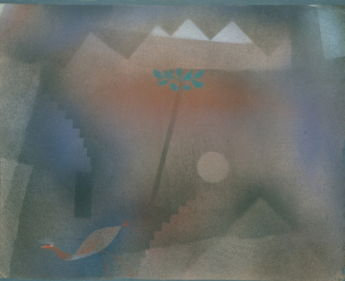 Paul Klee - Bird Wandering Off Pixerstick Sticker - Reproductions