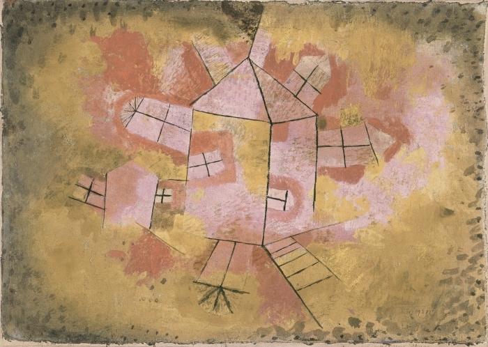 Pixerstick Aufkleber Paul Klee - Drehbares Haus - Reproduktion