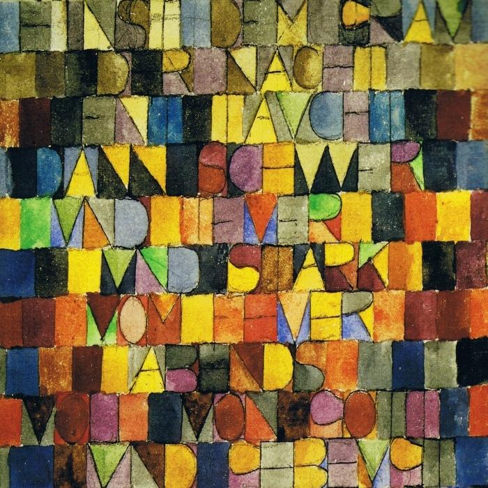 Pixerstick Aufkleber Paul Klee - Einst dem Grau der Nacht enttaucht - Reproduktion