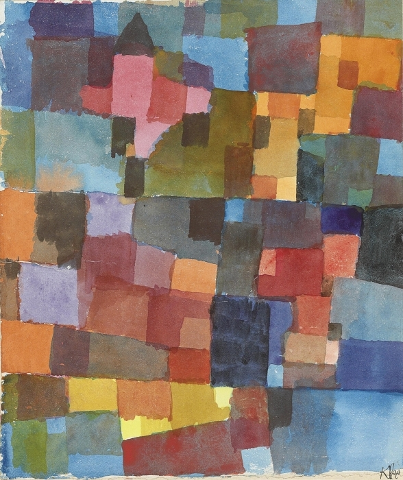 Naklejka Pixerstick Paul Klee - Kosmiczna architektura - Reprodukcje