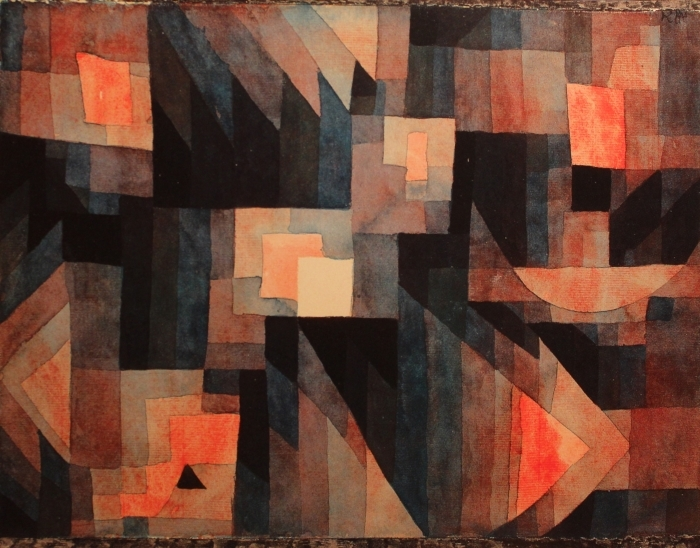 Naklejka Pixerstick Paul Klee - Gradient, czerwien - zieleń - Reprodukcje