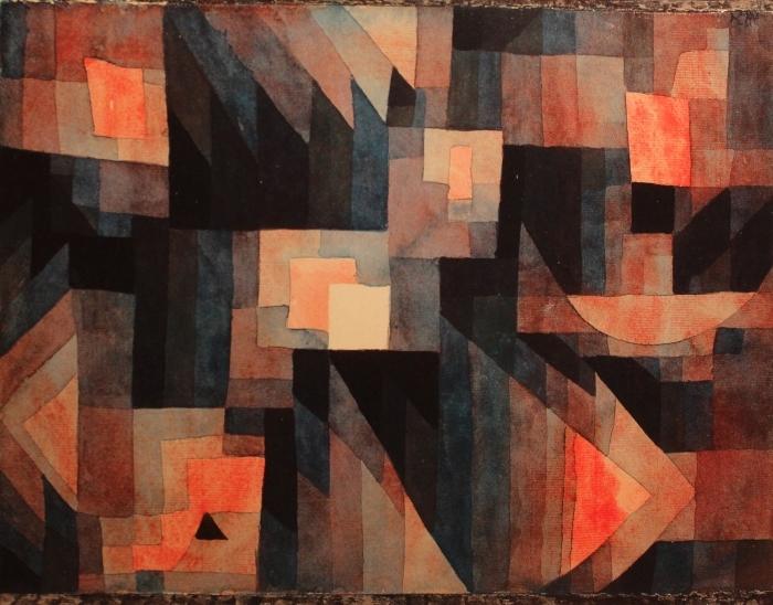 Papier peint vinyle Paul Klee - Gradation, rouge-vert - Reproductions