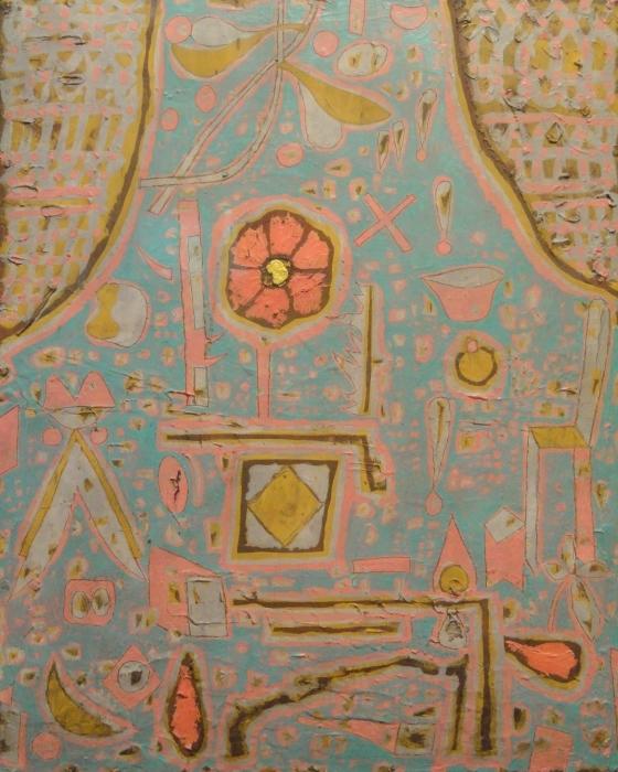 Pixerstick Aufkleber Paul Klee - Blüte - Reproduktion
