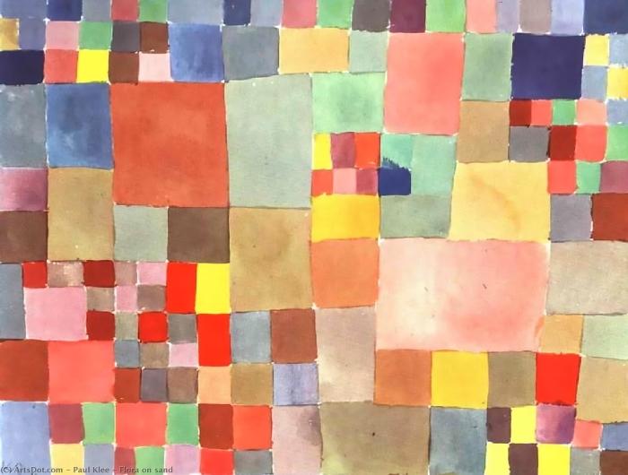 Pixerstick Aufkleber Paul Klee - Flora auf Sand - Reproduktion