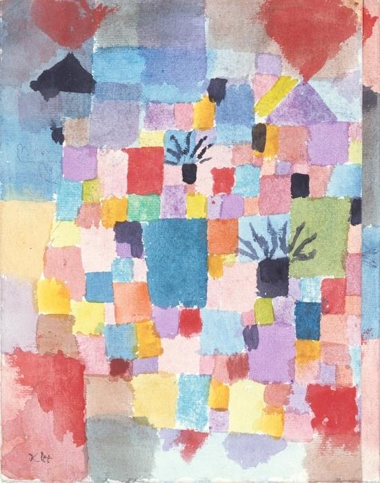 Papier peint vinyle Paul Klee - Jardins Tunisiens - Reproductions