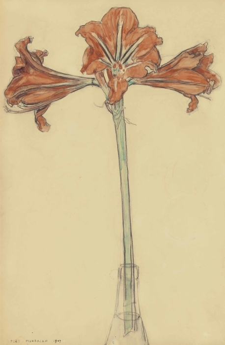 Pixerstick Aufkleber Piet Mondrian - Amaryllis - Reproduktion
