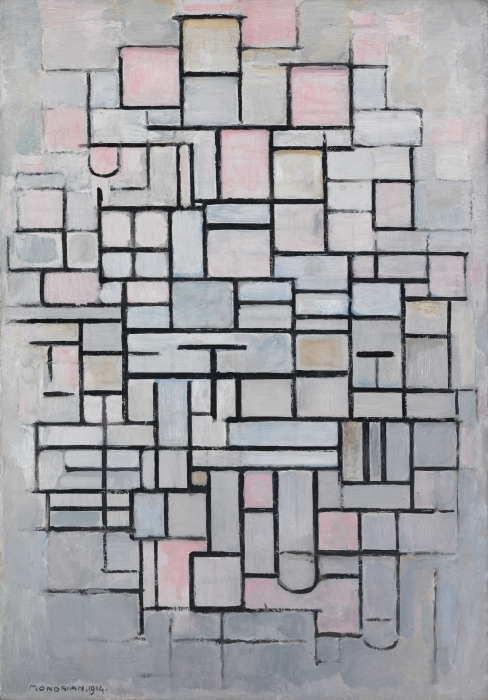 Pixerstick Aufkleber Piet Mondrian - Komposition IV - Reproduktion