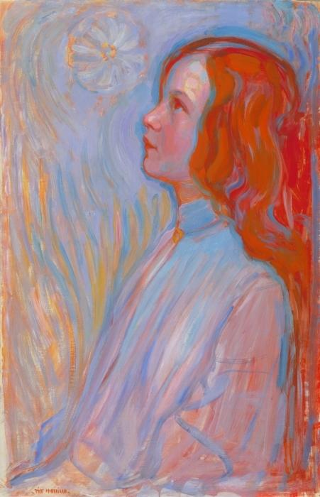 Naklejka Pixerstick Piet Mondrian - Poświęcenie - Reprodukcje