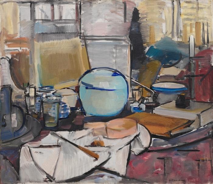 Naklejka Pixerstick Piet Mondrian - Martwa natura z dzbanem na imbir - Reprodukcje