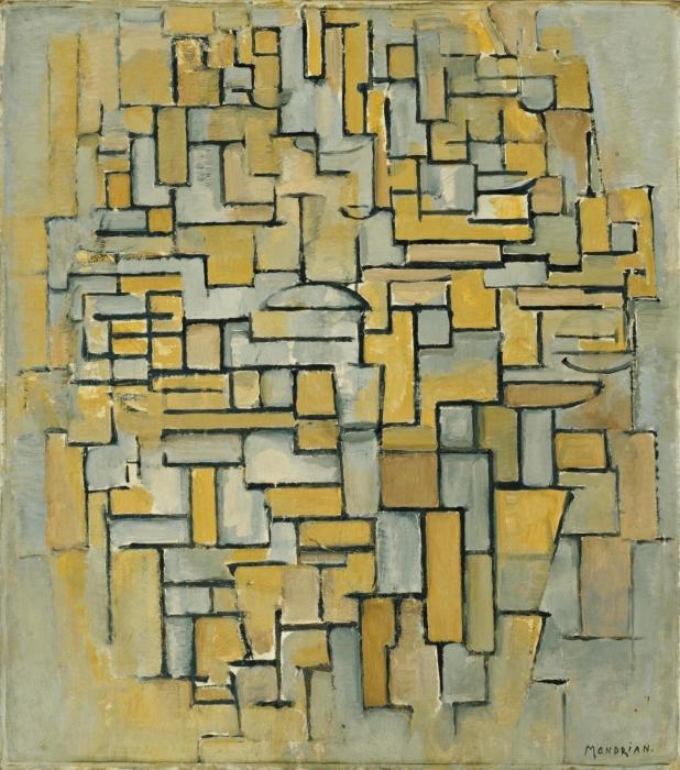 Papier peint vinyle Piet Mondrian - Composition - Reproductions