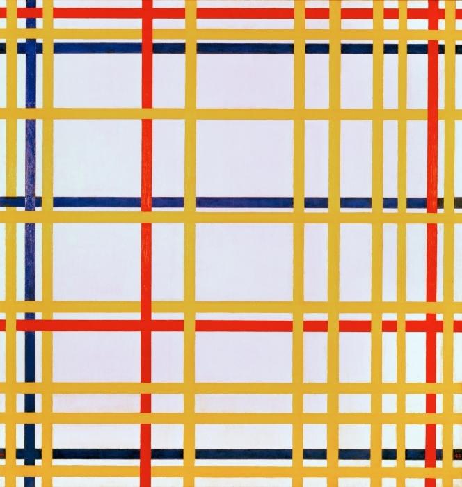 Sticker Pixerstick Piet Mondrian - New York City I - Reproductions
