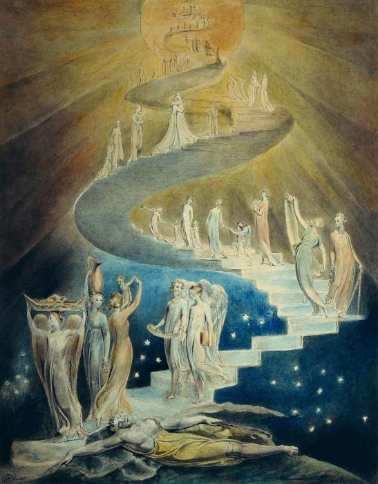 Pixerstick Aufkleber William Blake - Jakobs Traum (Jakobsleiter) - Reproduktion
