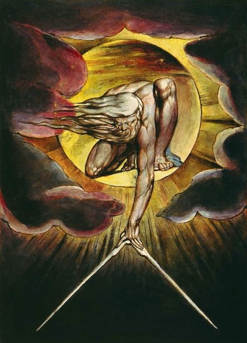 Pixerstick Aufkleber William Blake - Der Alte der Tage (Gott als Architekt) - Reproduktion