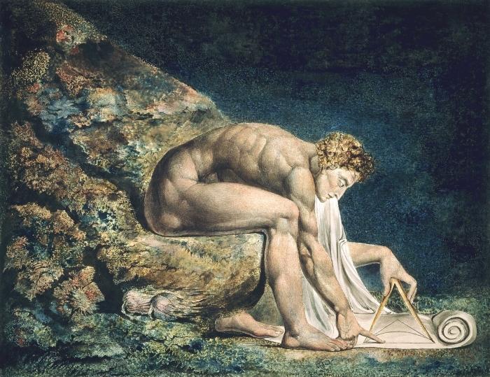 Sticker Pixerstick William Blake - Newton - Reproductions