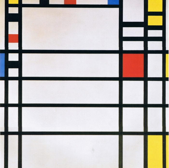 Sticker Pixerstick Piet Mondrian - Trafalgar Square - Reproductions