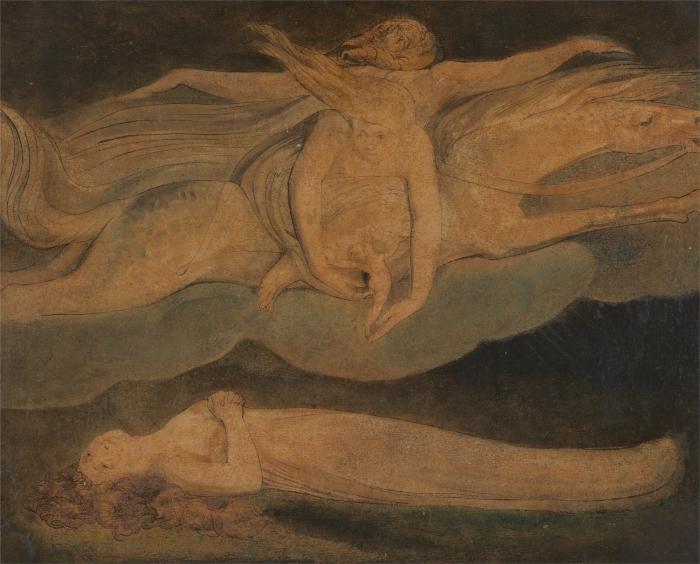 Sticker Pixerstick William Blake - La Pitié - Reproductions
