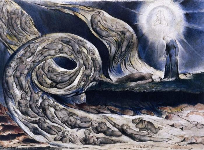 Abwaschbare Fototapete William Blake - Der Wirbelwind der Liebenden - Reproduktion