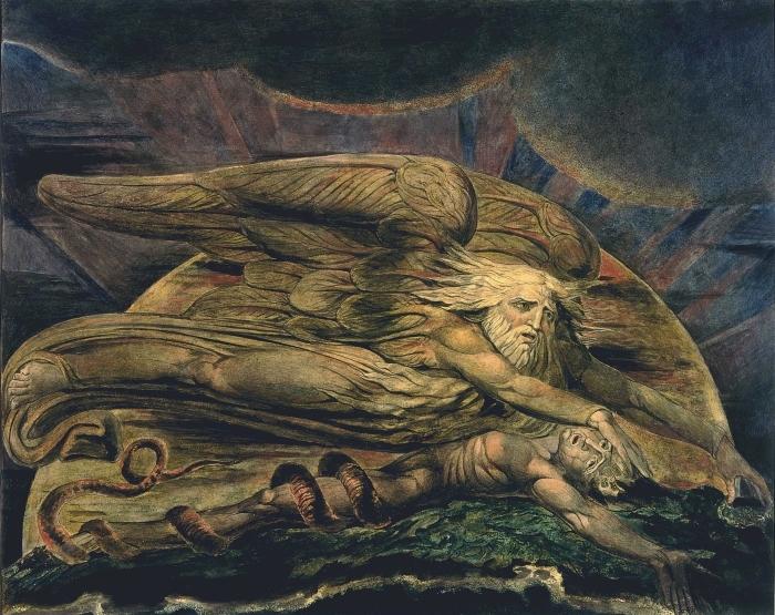 Papier peint vinyle William Blake - Elohim créant Adam - Reproductions