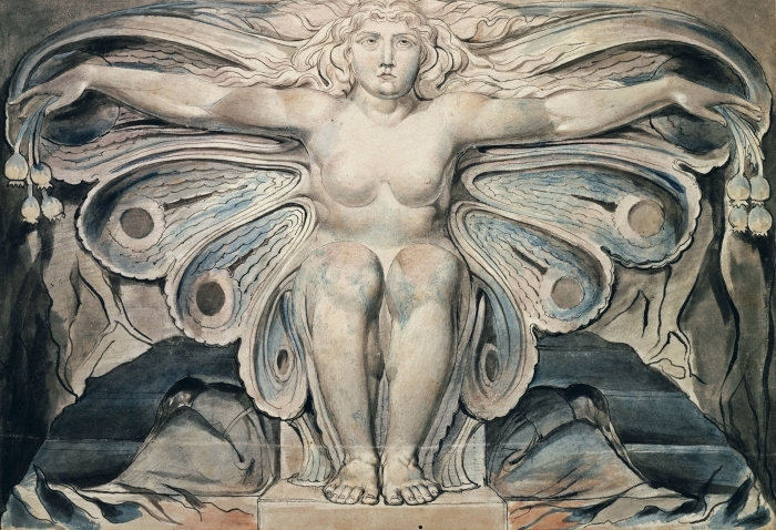 Naklejka Pixerstick William Blake - Personifikacja grobu - Reprodukcje