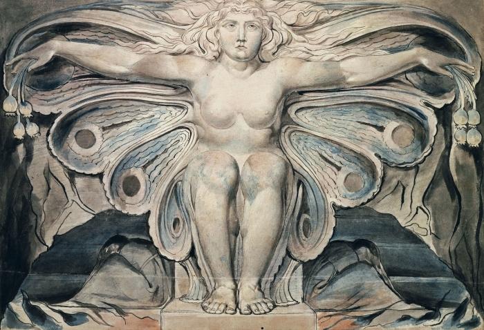 Papier peint vinyle William Blake - Personnification du tombe - Reproductions