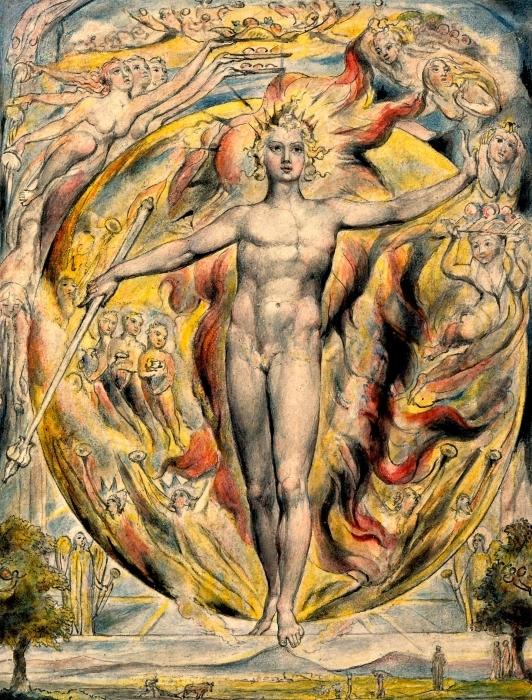 William Blake - Moses Pixerstick Sticker - Reproductions