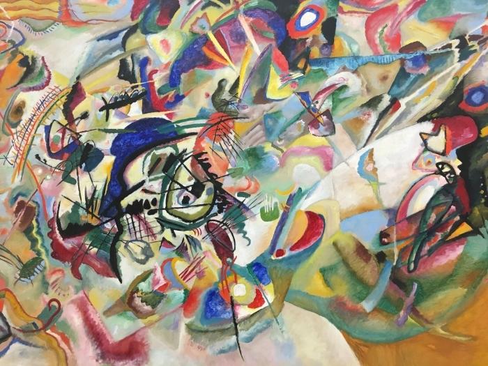 Pixerstick Aufkleber Wassily Kandinsky - Komposition VII - Reproduktion