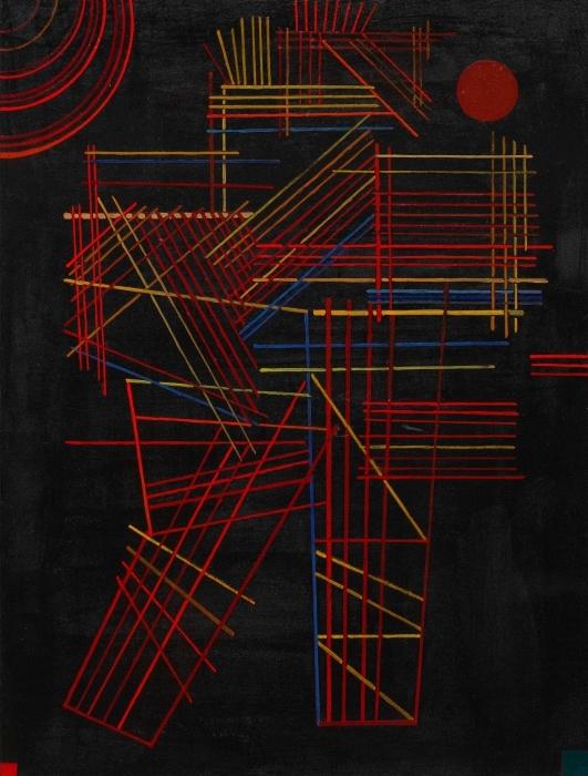 Pixerstick Sticker Wassily Kandinsky - Gekleurde stokken - Reproducties