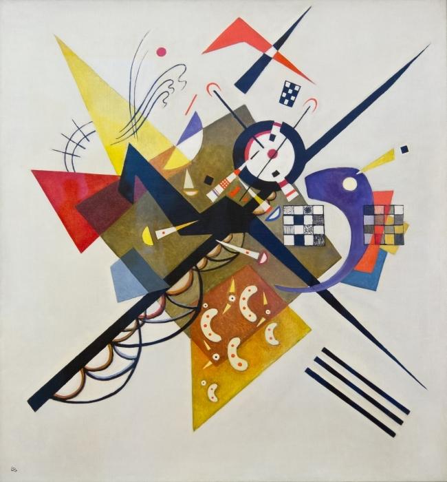 Papier peint vinyle Vassily Kandinsky - Sur blanc no 2 - Reproductions