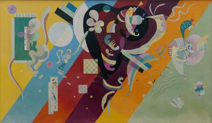 Naklejka Pixerstick Wassily Kandinsky - Kompozycja X - Reprodukcje