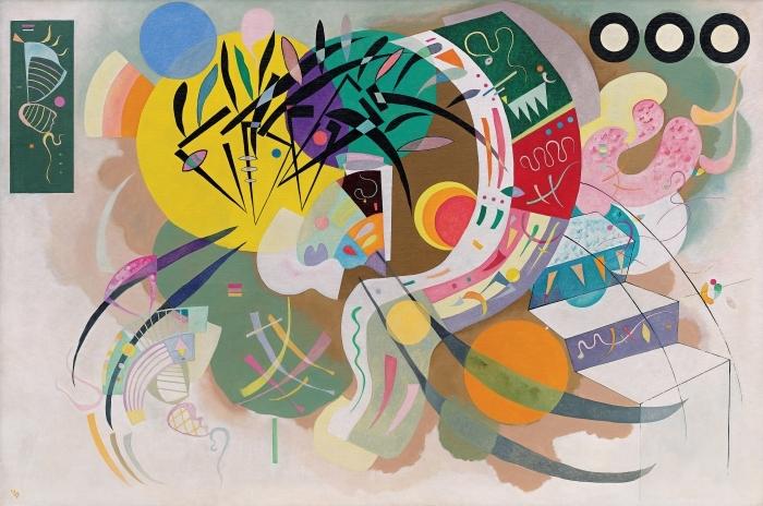 Naklejka Pixerstick Wassily Kandinsky - Krzywa dominująca - Reprodukcje