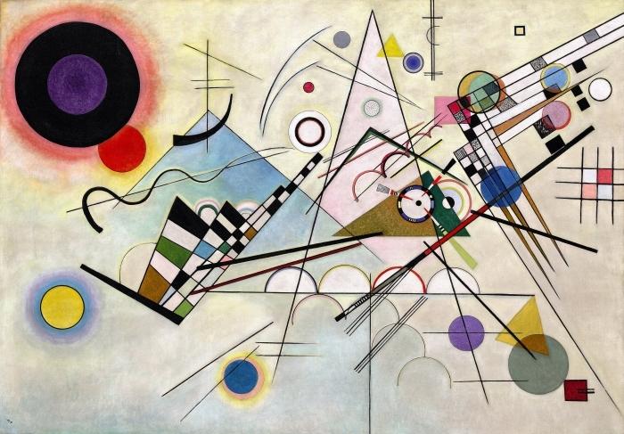 Pixerstick Sticker Wassily Kandinsky - Compositie VIII - Reproducties