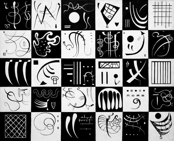 Pixerstick Aufkleber Wassily Kandinsky - Dreißig - Reproduktion
