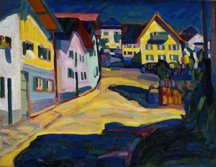Naklejka Pixerstick Wassily Kandinsky - Murnau Burggrabenstrasse - Reprodukcje