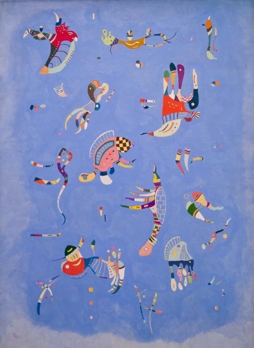 Wassily Kandinsky - Sky Blue Pixerstick Sticker - Reproductions