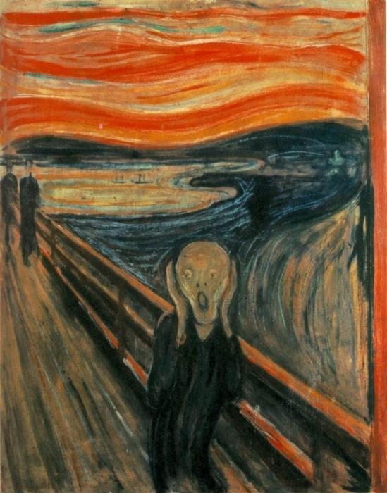 Edvard Munch - The Scream Pixerstick Sticker - Reproductions