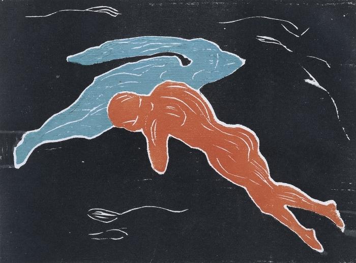 Pixerstick Aufkleber Edvard Munch - Begegnung im Weltraum - Reproduktion