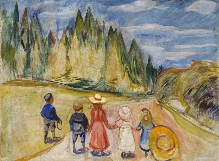 Abwaschbare Fototapete Edvard Munch - Der Märchenwald - Reproduktion