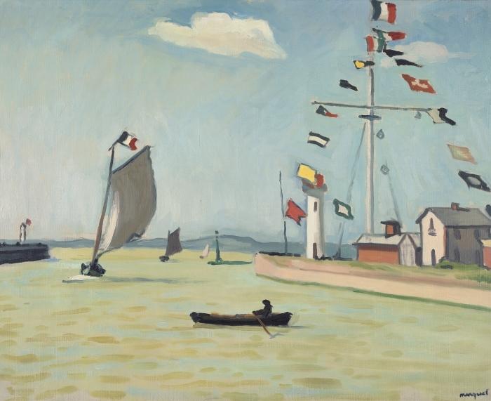 Papier peint vinyle Albert Marquet - Honfleur - Reproductions