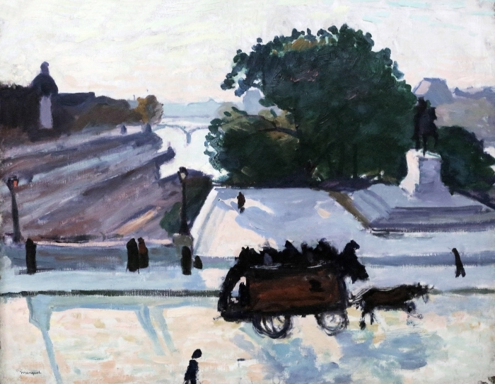 Pixerstick Aufkleber Albert Marquet - Paris. The Pont Neuf im Sommer. - Reproductions