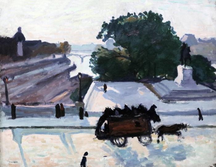 Papier peint vinyle Albert Marquet - Paris. Le Pont Neuf en été. - Reproductions