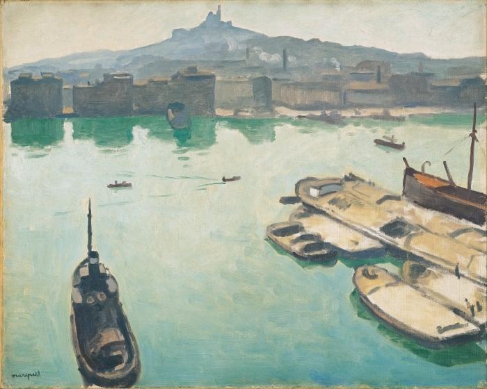 Papier peint vinyle Albert Marquet - Port de Marseilles - Reproductions