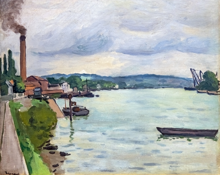 Papier peint vinyle Albert Marquet - La seine (environs de Rouen) - Reproductions