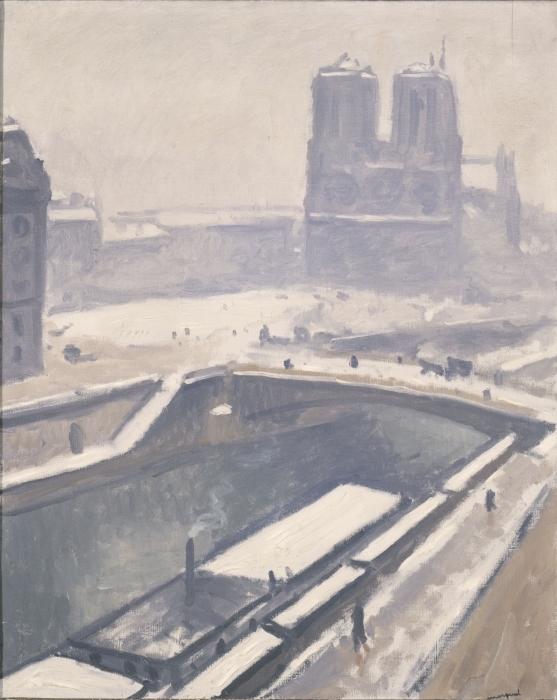 Naklejka Pixerstick Albert Marquet - Widok na Notre-Dame - Reproductions