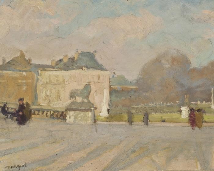 Naklejka Pixerstick Albert Marquet - Widok na Pałac Luksemburski - Reproductions