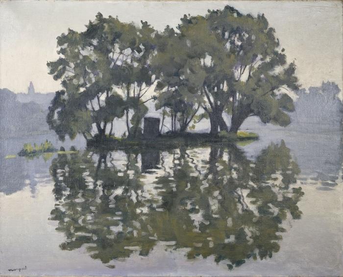Papier peint vinyle Albert Marquet - Île aux Cygnes - Reproductions