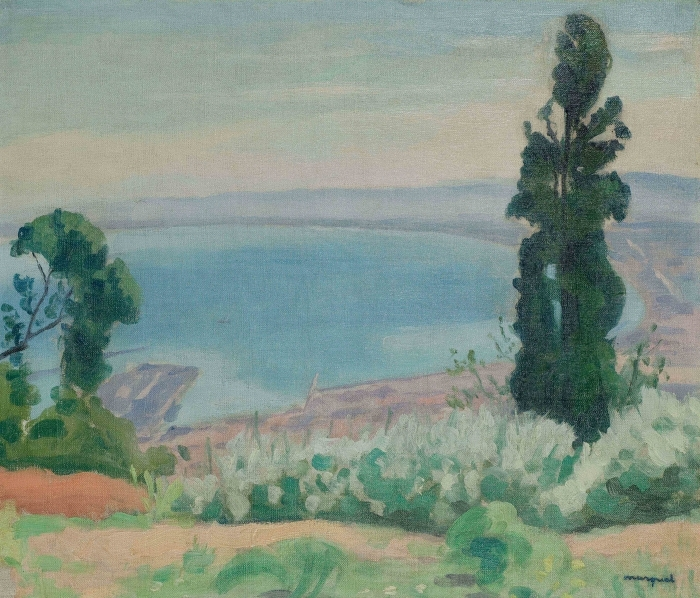 Naklejka Pixerstick Albert Marquet - Zatoka Algierska, widok od strony El-Biar - Reproductions