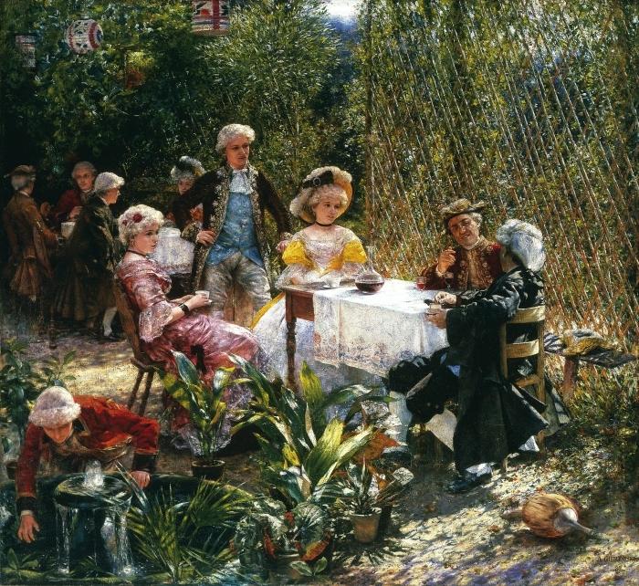 Pixerstick Aufkleber Aleksander Gierymski - In der Laube - Reproductions