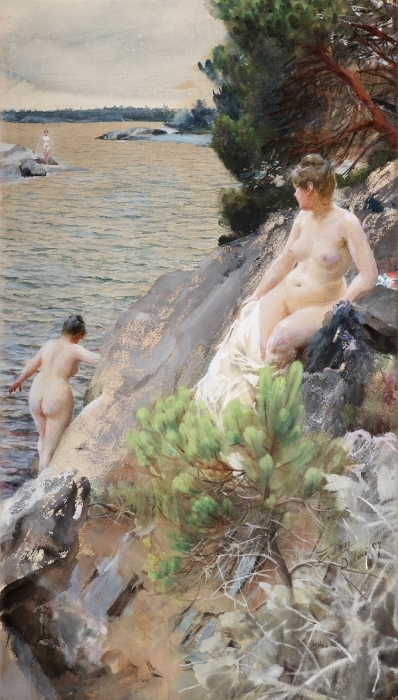 Anders Zorn - Summer Pixerstick Sticker - Reproductions