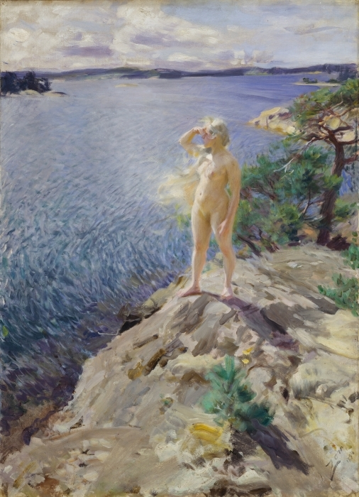 Sticker Pixerstick Anders Zorn - Dans les Skerries - Reproductions