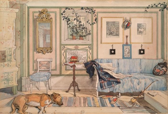 Abwaschbare Fototapete Carl Larsson - Gemütliche Ecke - Reproductions